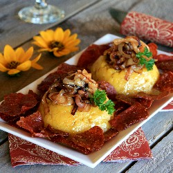 Dominican gallery foodgawker mangu with onions and salami forumfinder Choice Image