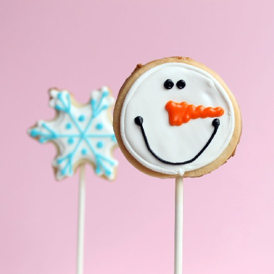 Snowflake And Snowman Cookies For Winter And Christmas