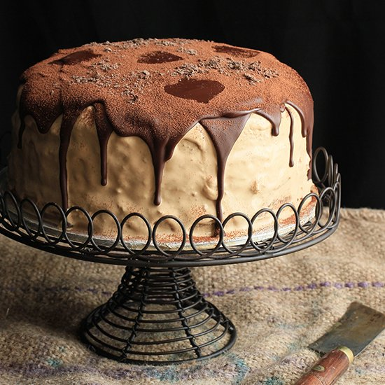 Coffee Chocolate Mascarpone Cake