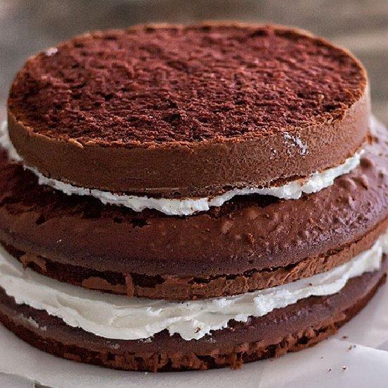 Two Tier Chocolate Birthday Cake