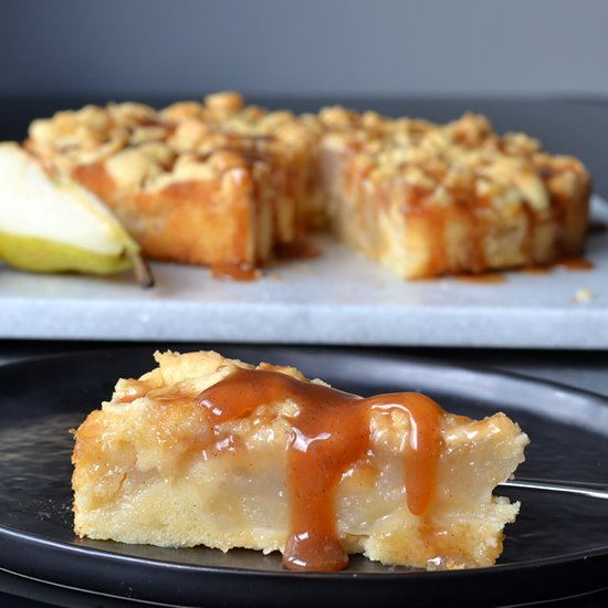 recipe: pear cake with caramel sauce [2]