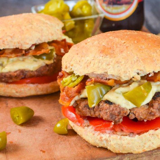 Breaded cheeseburger recipe