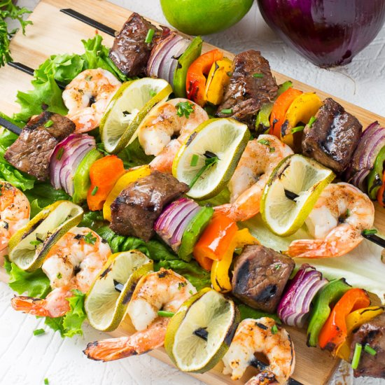 recipe: easy steak and shrimp kabobs [30]