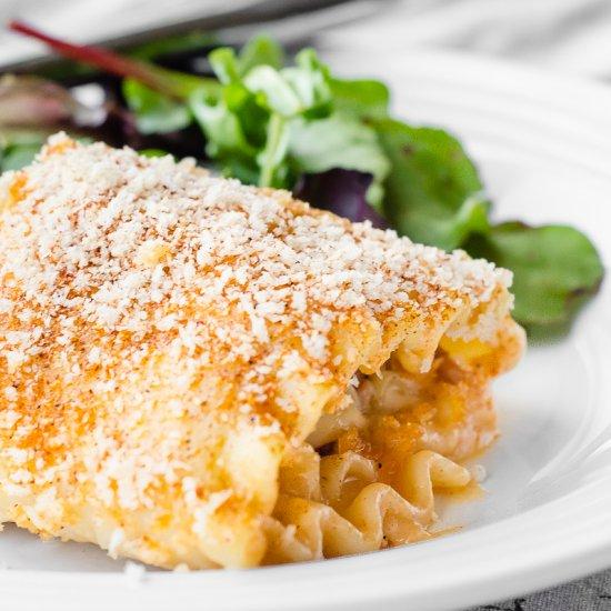 Chicken Cordon Bleu Lasagna Roll