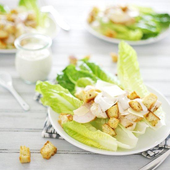 Caesar Salad Recipe Eggless