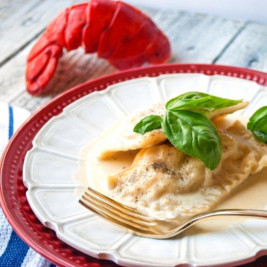 ... Homemade Lobster Ravioli
