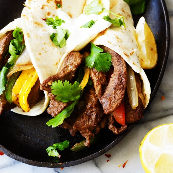 Easy, Quick 30 Minute Beef Fajita