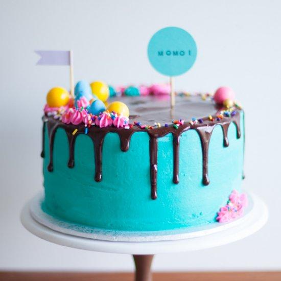 Fancy Candy Birthday Drippy Cake