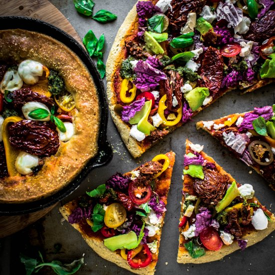 Teff and Chickpea Flour Pizza Crust