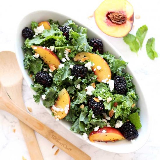 Blackberry and Peach Salad