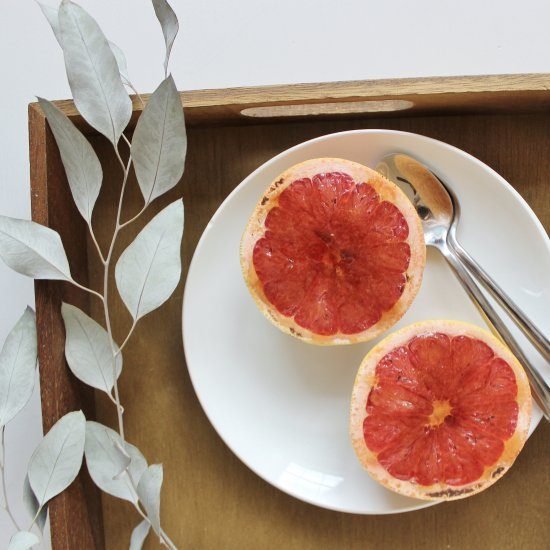 Brown Sugar Bruleed Grapefruit