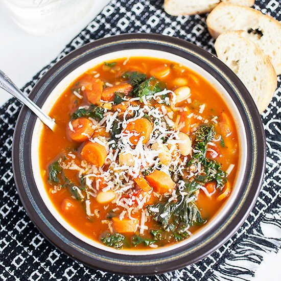 Vegetarian soup recipes gallery foodgawker email cannellini carrot and kale soup forumfinder Images