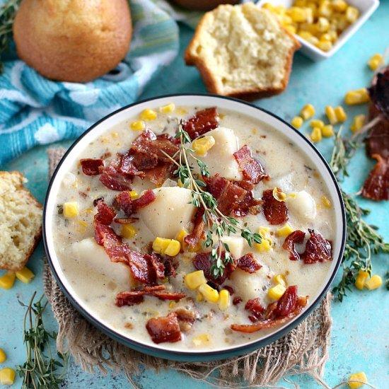 Slow Cooker Corn Chowder