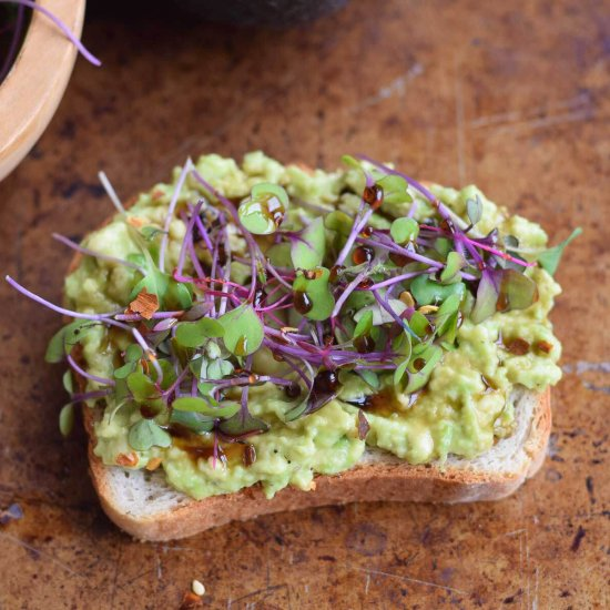 Avocado Toast with Mircrogreens