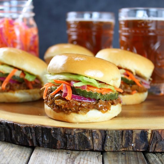 Asian Sloppy Joes w Pickled Veggies