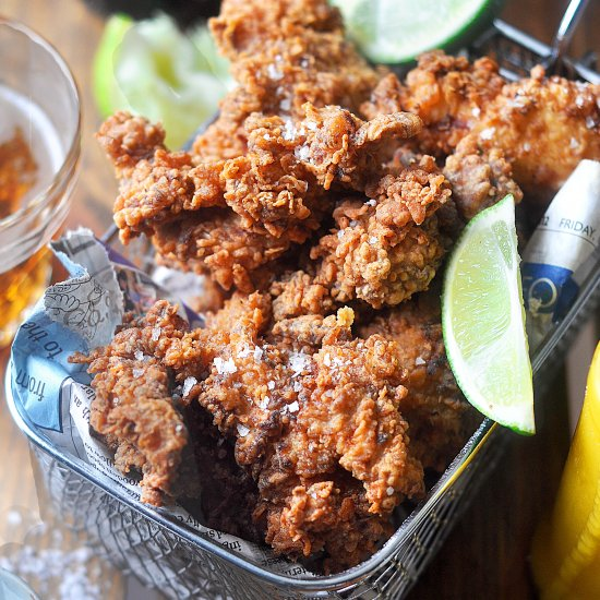 Fried Chicken with Mango Hot Sauce
