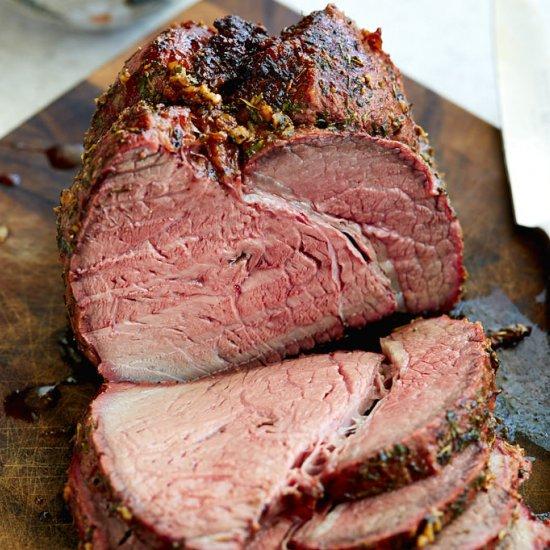 Rotisserie Top Round Roast w/ Herbs