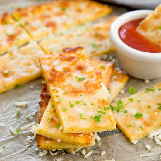 Flourless Cheesy Breadsticks