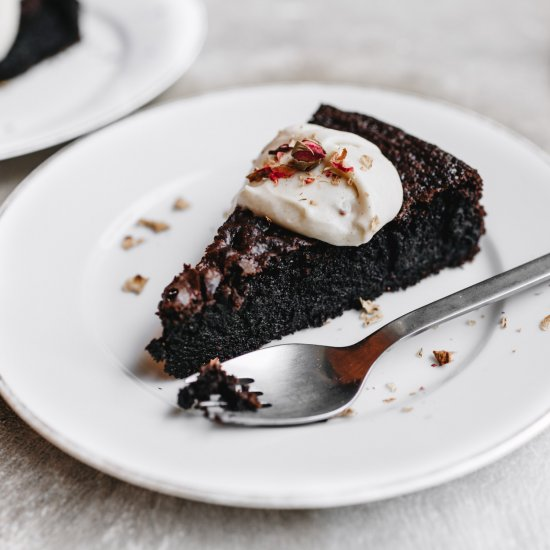 Flourless Chocolate Cake With Coffee