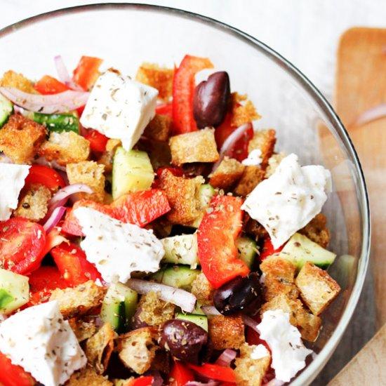 Greek Panzanella panzanella salad gallery   foodgawker