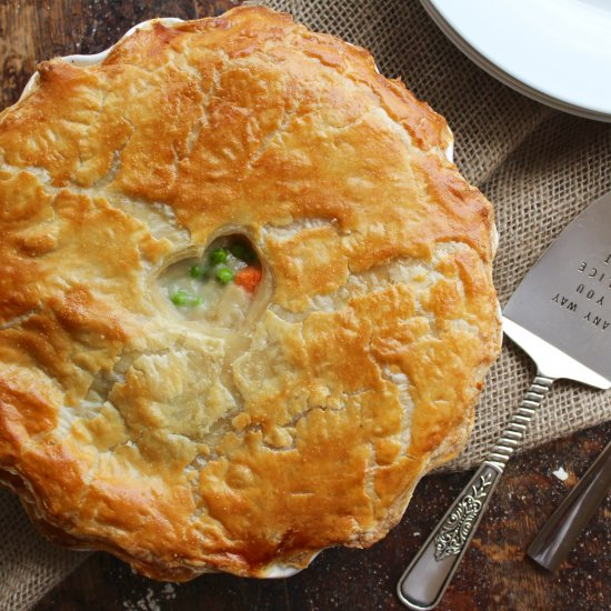 Chicken Pot Pie, with Puff Pastry