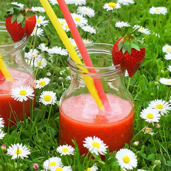 Strawberry-Watermelon-Rhubarb Drink