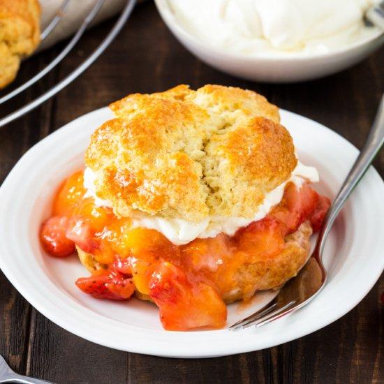 Strawberry and Mango Shortcakes