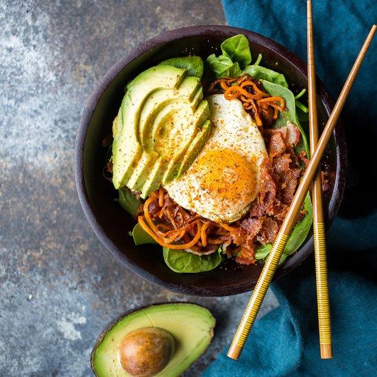 Sweet Potato Noodle Breakfast Bowl