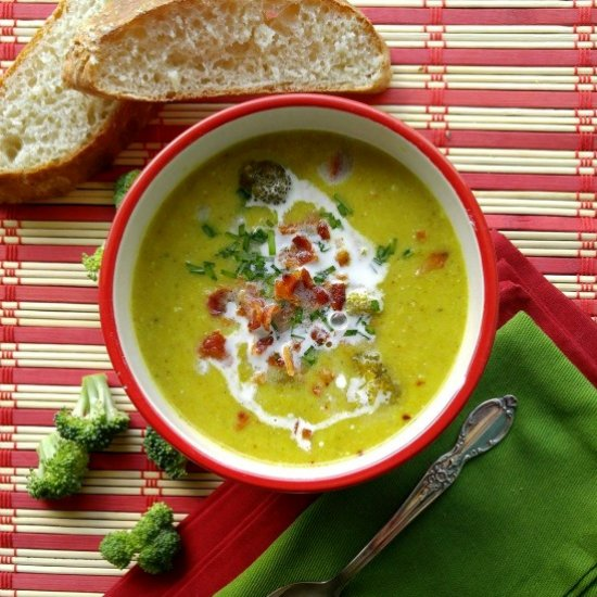 Curried Broccoli Soup Slow Cooker