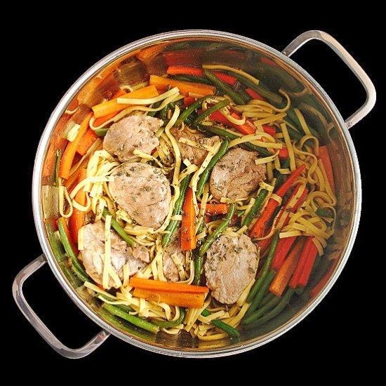 Pork and Noodle Stir Fry
