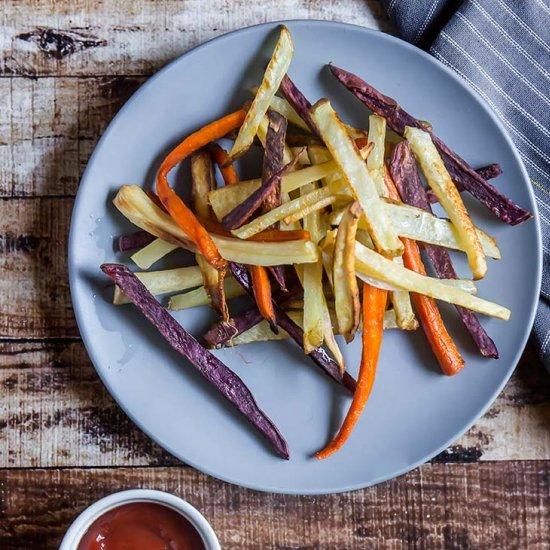 Rainbow Veggie Fries