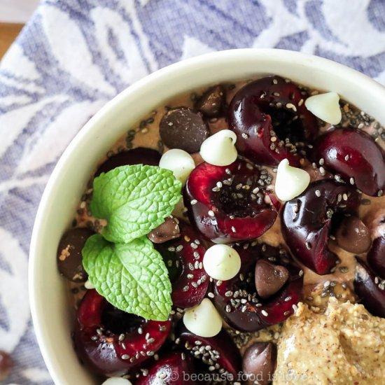 Cherry Chocolate Greek Yogurt Bowls
