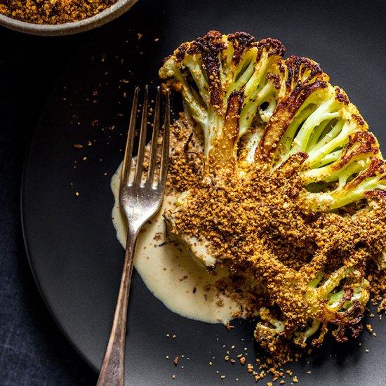 Cauliflower Steak with Dukkah