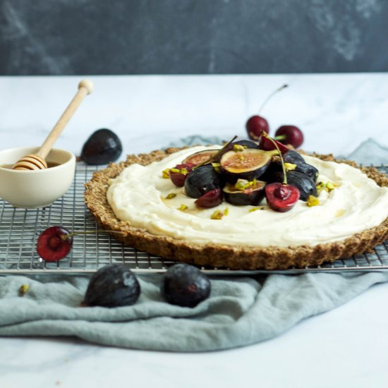 Fig + Cherry Maple Mascarpone Tart