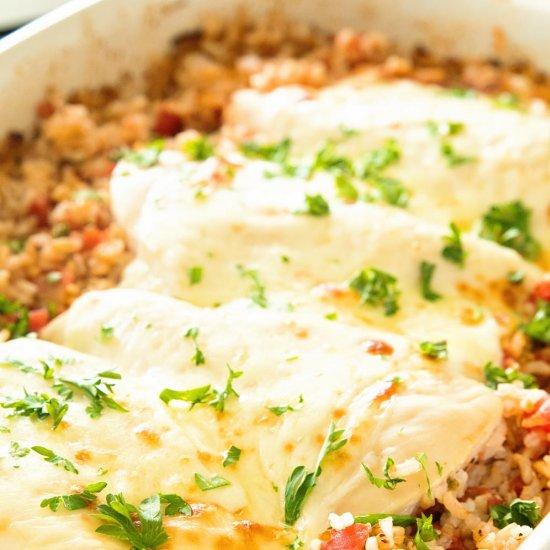 Italian Chicken and Rice Casserole