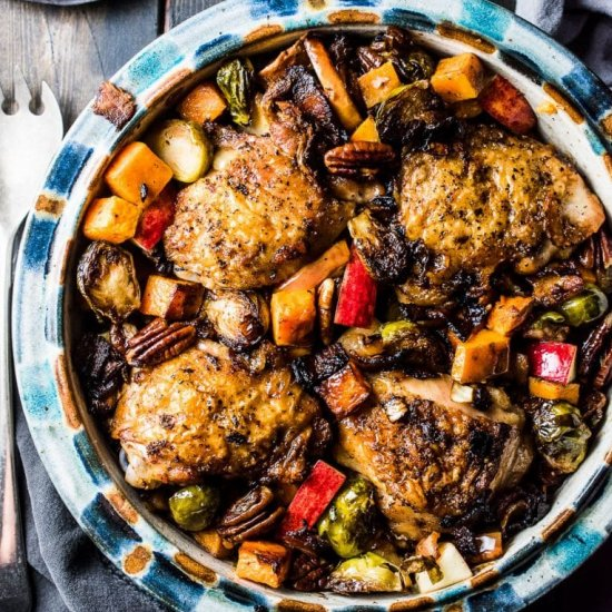 Healthier dinner recipes gallery foodgawker one pan bacon apple chicken forumfinder Images