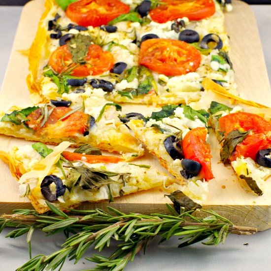 Vegetarian pizza gallery foodgawker greek vegetarian phyllo pizza forumfinder Images