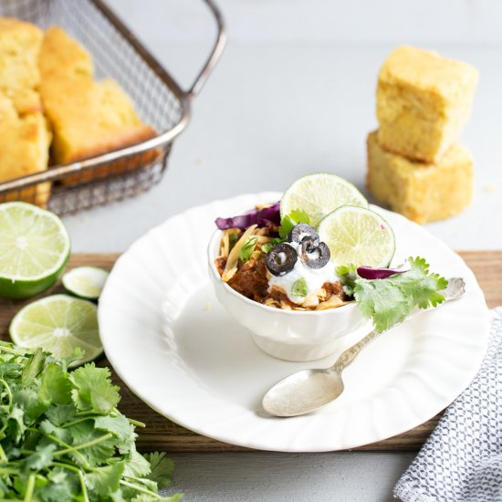 Foodgawker feed your eyes chili with cornbread honey butter forumfinder Images
