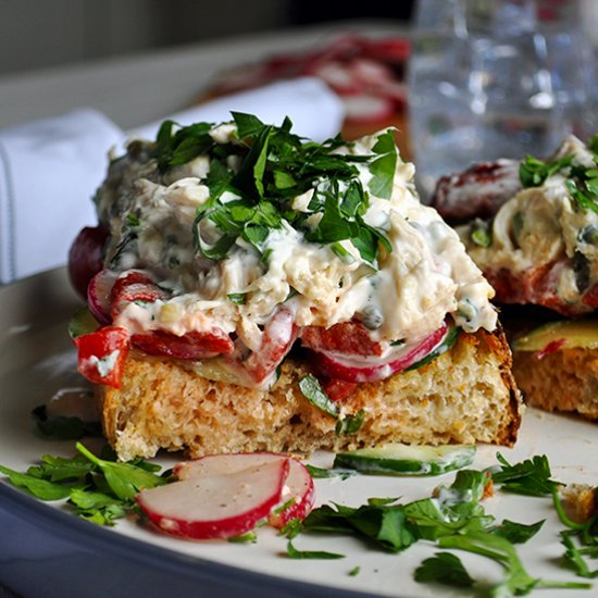 Dinner gallery foodgawker open face chicken salad sandwiches forumfinder Images