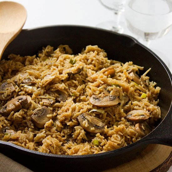 Dinner gallery foodgawker mushroom and rice easy one pot forumfinder Images