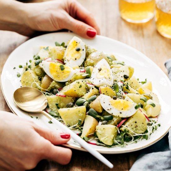Foodgawker feed your eyes no mayo deviled egg potato salad forumfinder Images