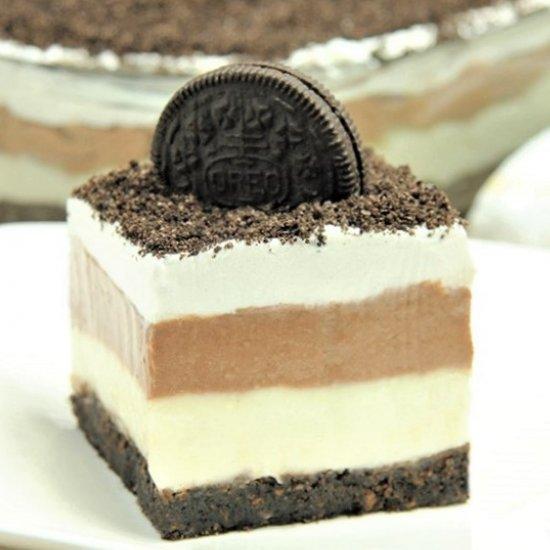 no bake chocolate pb oreo lasagna foodgawker