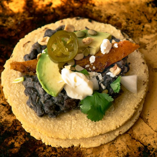 Vegetarian tacos gallery foodgawker black bean taco spicy winter squash tacos forumfinder Images