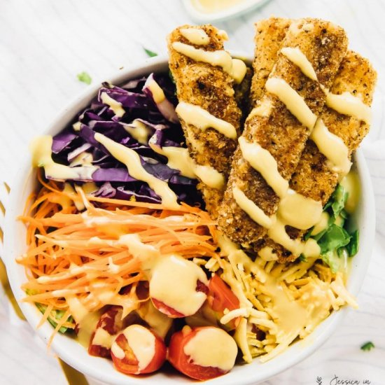 Vegan crispy cajun fried chicken salad foodgawker vegan crispy cajun fried chicken salad forumfinder Choice Image