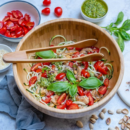 Healthy Pesto Chicken Zoodles Foodgawker