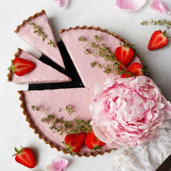Raw Vegan Strawberry Tart