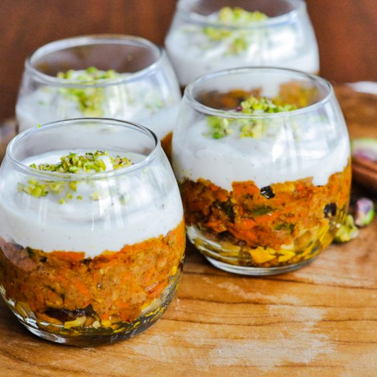 Carrot Halwa Trifle Vegan Gluten And Soy Free Veggiecurean