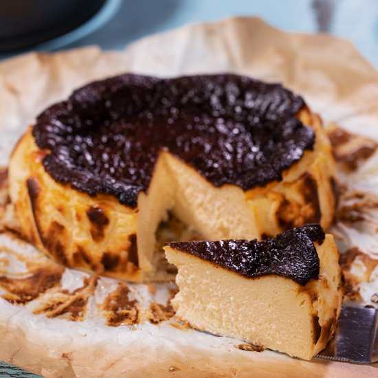 Basque Burnt Cheesecake Home Cooking Adventure
